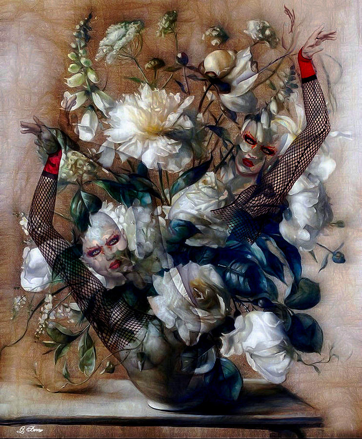 Floral Mixed Media - Ballerina Bouquet by G Berry