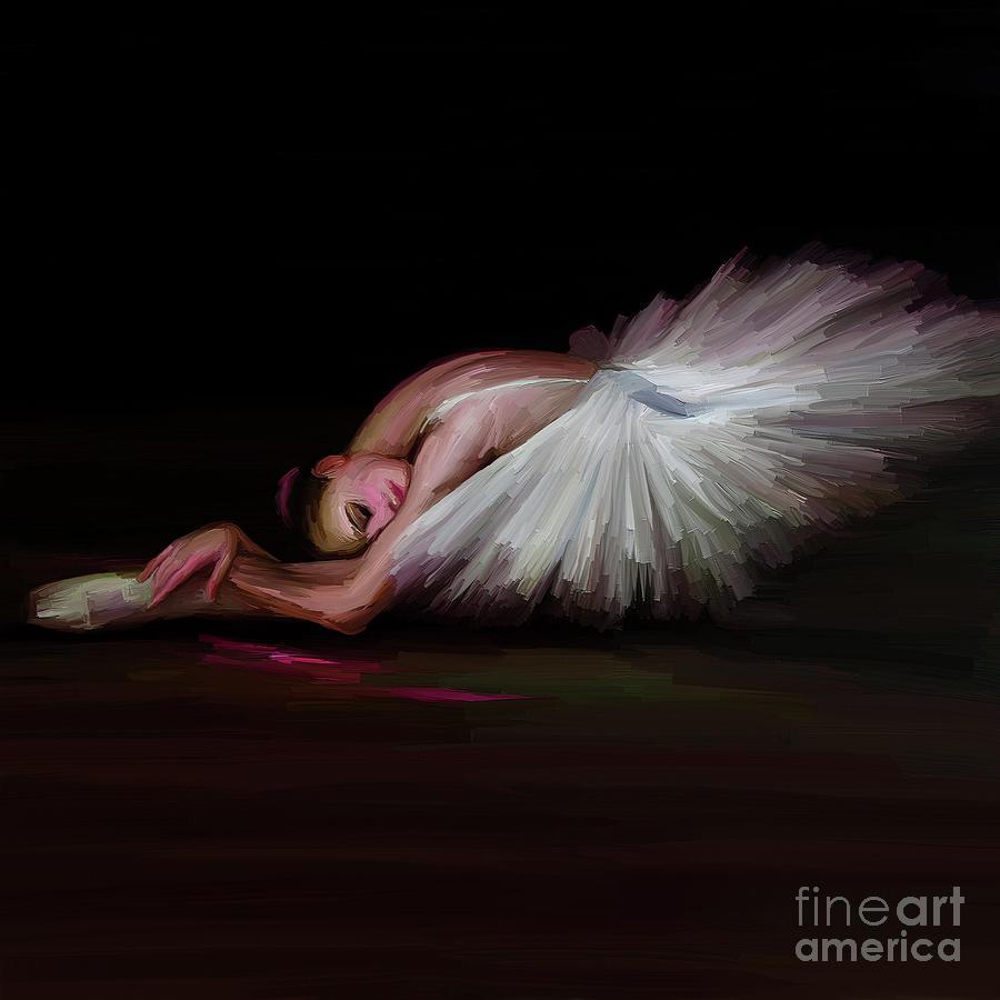 Ballet Painting - Ballerina Dance 00943 by Gull G
