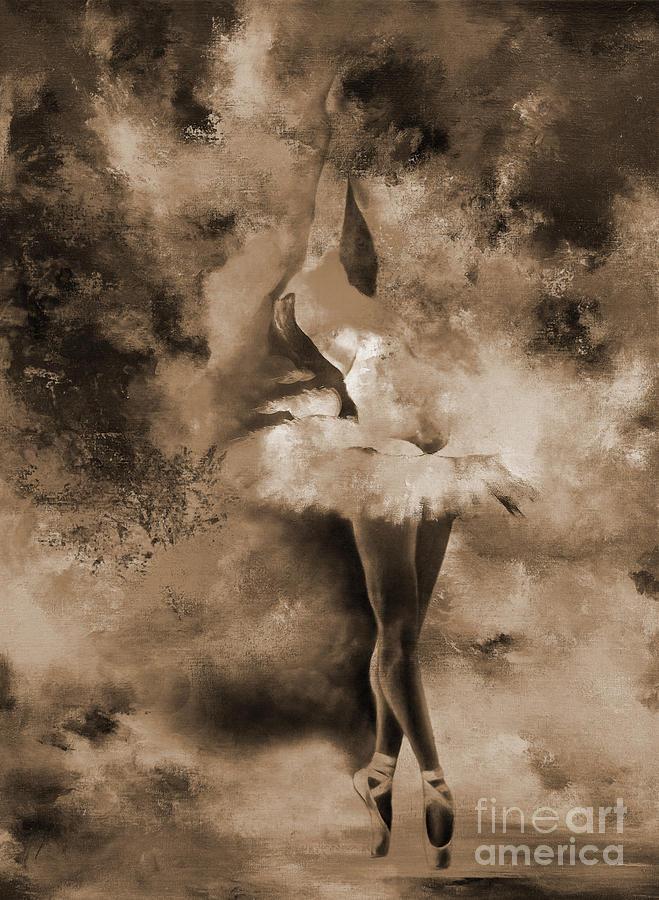 Ballerina Painting - Ballerina Dance Art H991i by Gull G