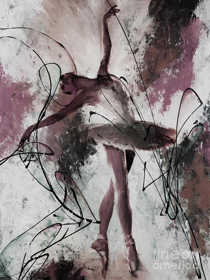 Ballerina Painting - Ballerina Dance Painting 0032 by Gull G