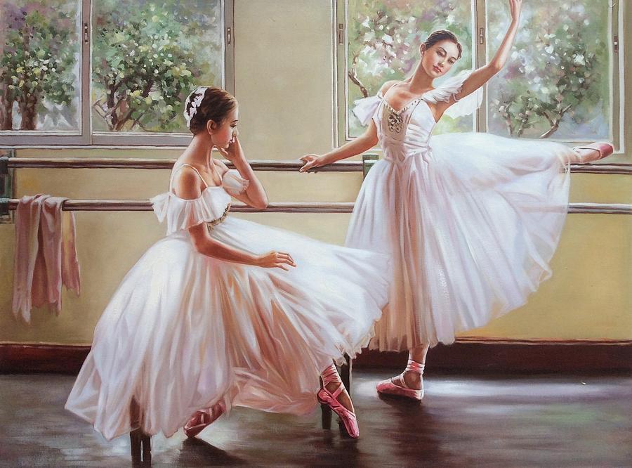 Ballerina Painting - Ballerina by Frank