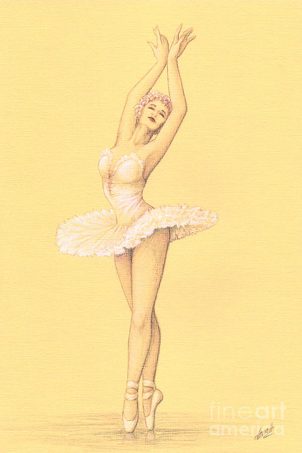 Ballet Drawing - Ballerina I by Enaile D Siffert