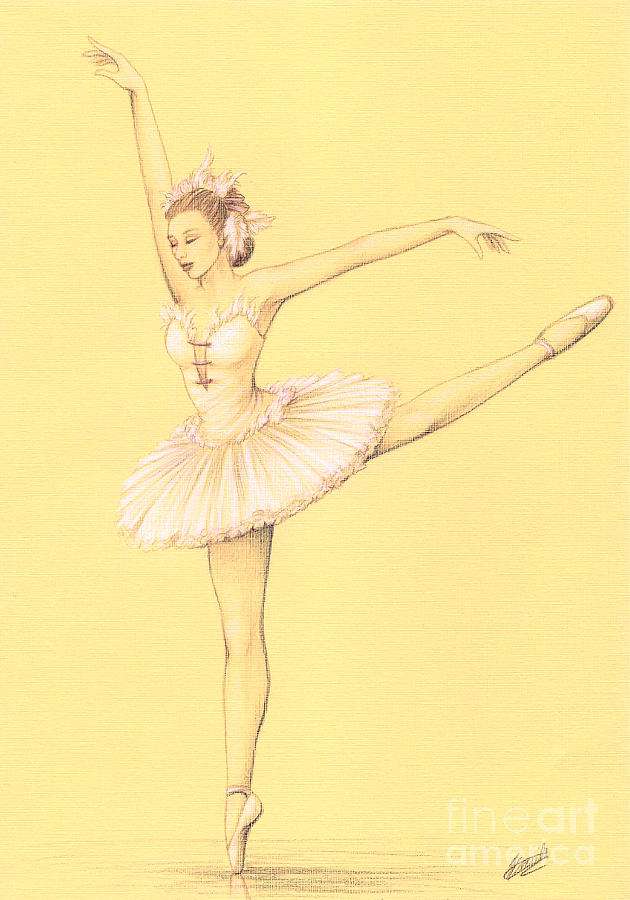 Ballet Drawing - Ballerina II by Enaile D Siffert