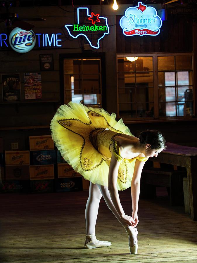 Ballerina Photograph - Ballerina in a Bar by Roy Nierdieck