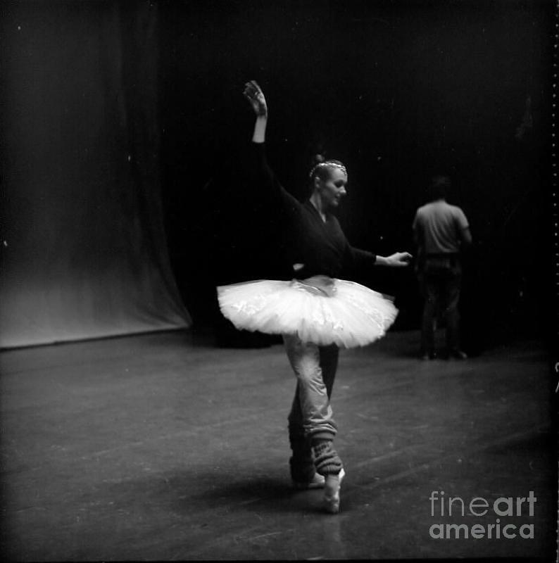 Ballerina In Dark Stage Photograph by Jesse Gerstein
