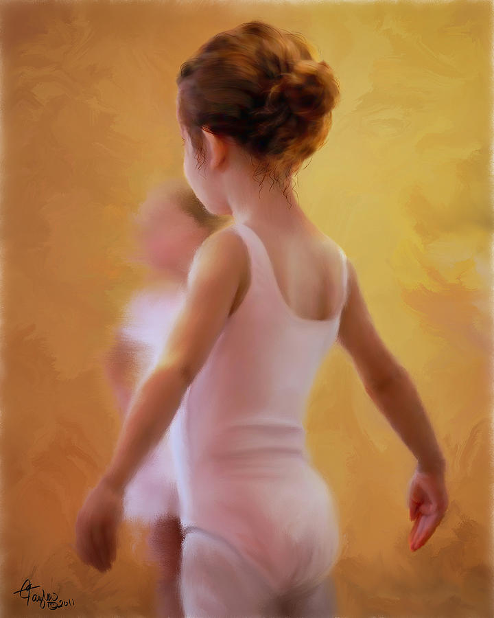 Children Painting - Ballerina In Pink by Colleen Taylor