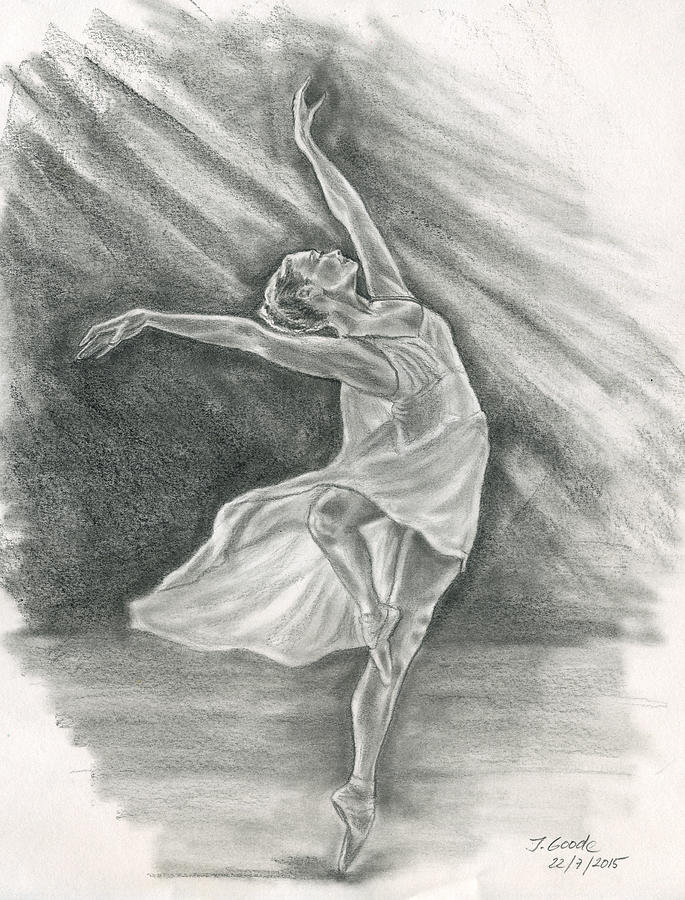Ballerina Drawing - Ballerina by Jana Goode