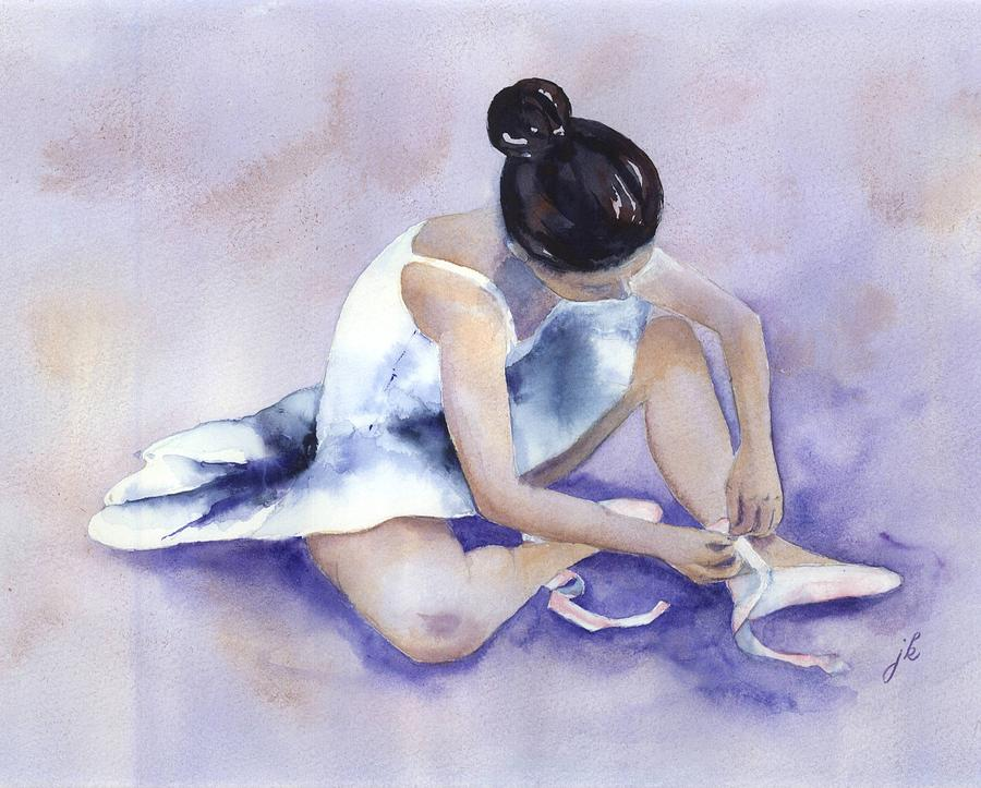 Watercolor Painting - Ballerina by Jitka Krause