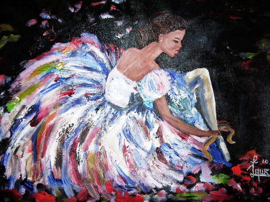 Ballet Painting - Ballerina by Laura Fatta