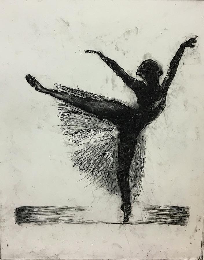 Etching Mixed Media - Ballerina by Rebecca Davidson