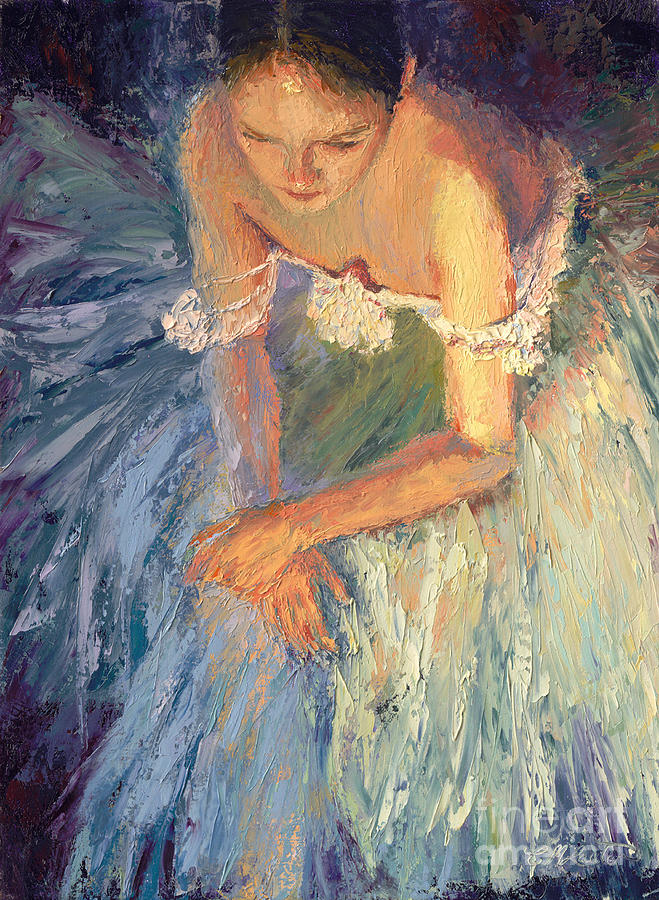 Figurative Painting - Ballerina Resting by Colleen Murphy