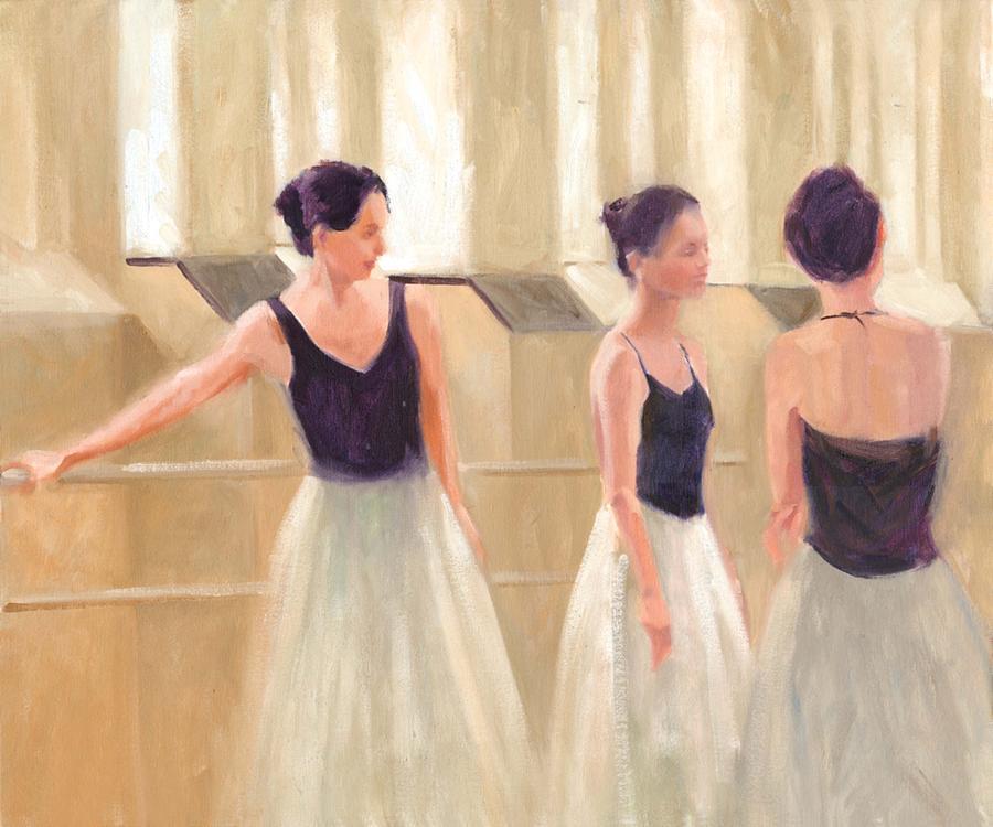 Ballet Painting - Ballerinas Waiting by Margaret Aycock