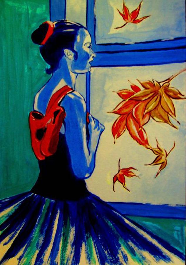 Impressionists Painting - Ballerine En Automne by Rusty Woodward Gladdish