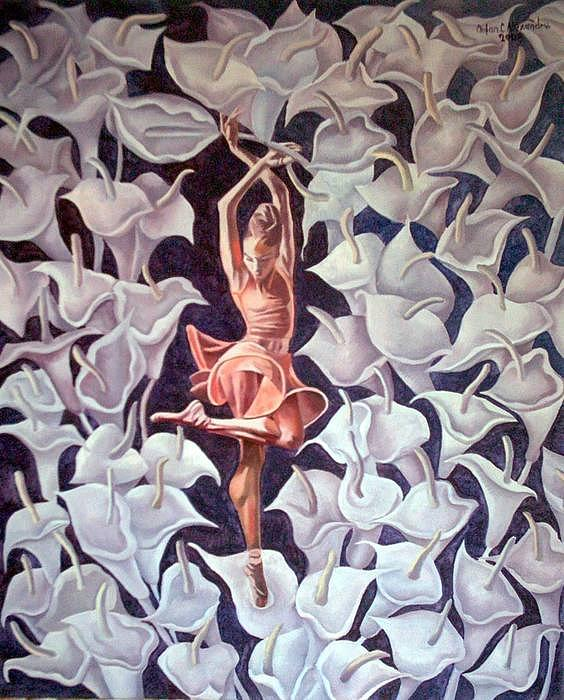 Ballet Painting by Chifan Catalin  Alexandru