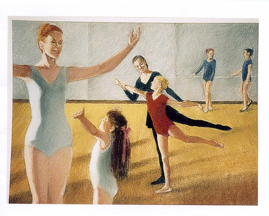 Dance Class Painting - Ballet Class by Florence Unkeless