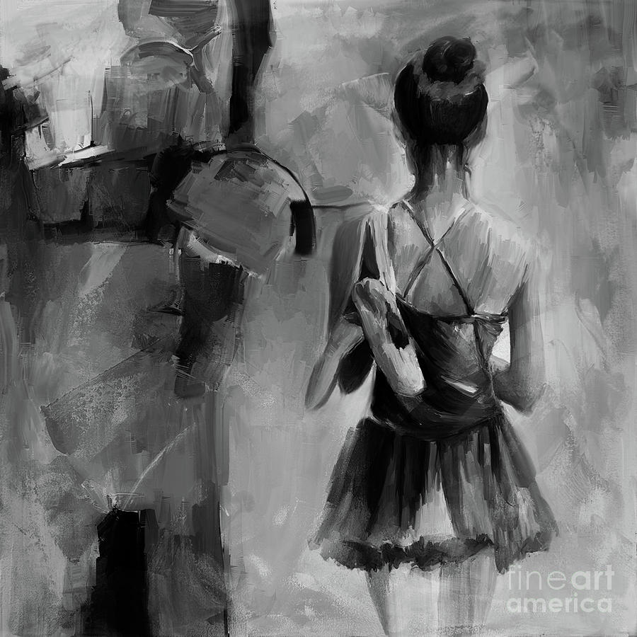 Ballet Dance Black N White 0043 Painting By Gull G