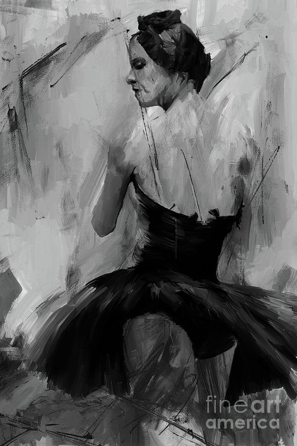 Degas Painting - Ballet Dance Pose 01 by Gull G