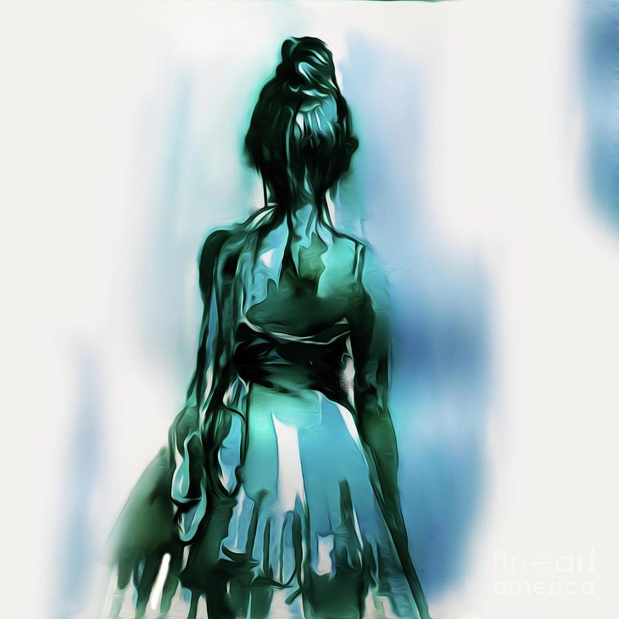 Ballerina Painting - Ballet Dancer Backside 02 by Gull G