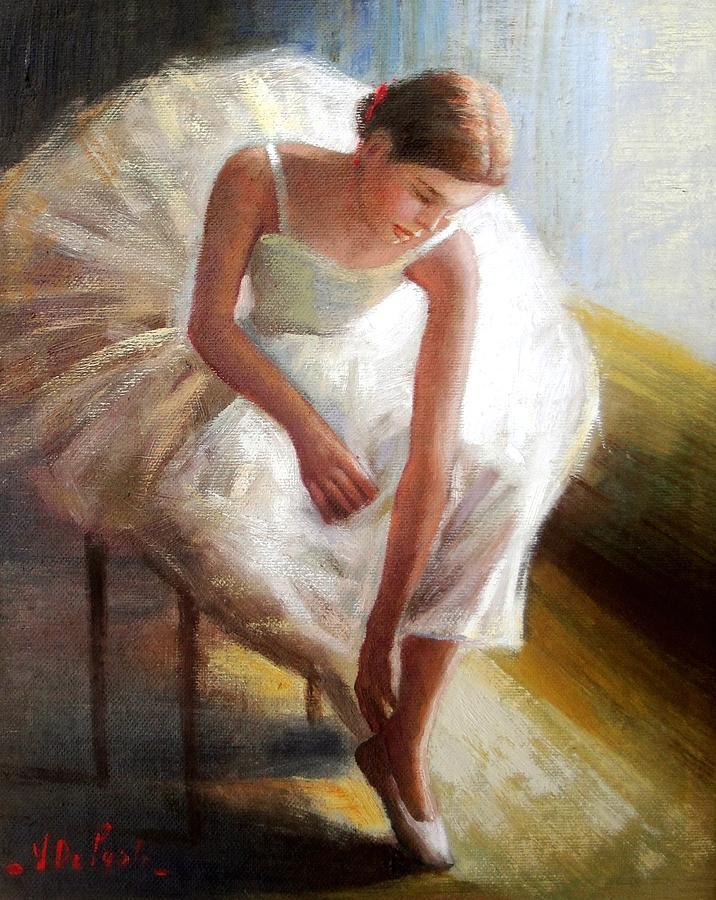 Quadri Painting - Ballet Dancer by Vincenzo Depaoli