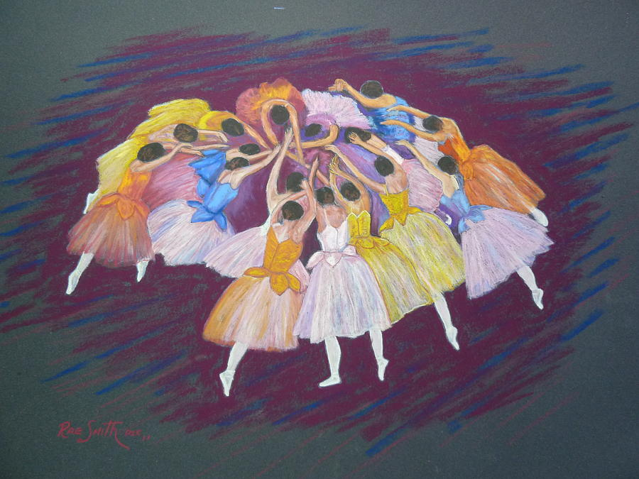 Ballet Pastel - Ballet Dancers by Rae  Smith PSC
