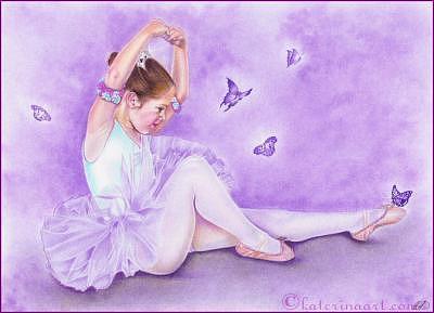 Ballerina Drawing - Ballet De Papillon by Katerina Koukiotis