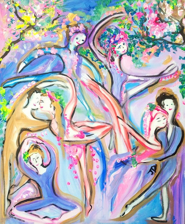 Party Painting - Ballet Garden Party  by Judith Desrosiers