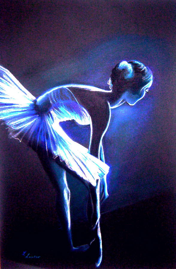 Ballet Drawing - Ballet In Blue by L Lauter