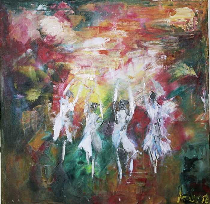 Ballet Of Boston Painting by Inna Davidovich