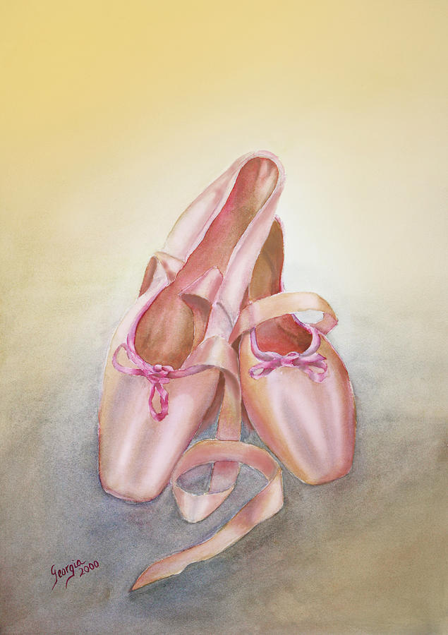 Ballet Toe Shoes Painting