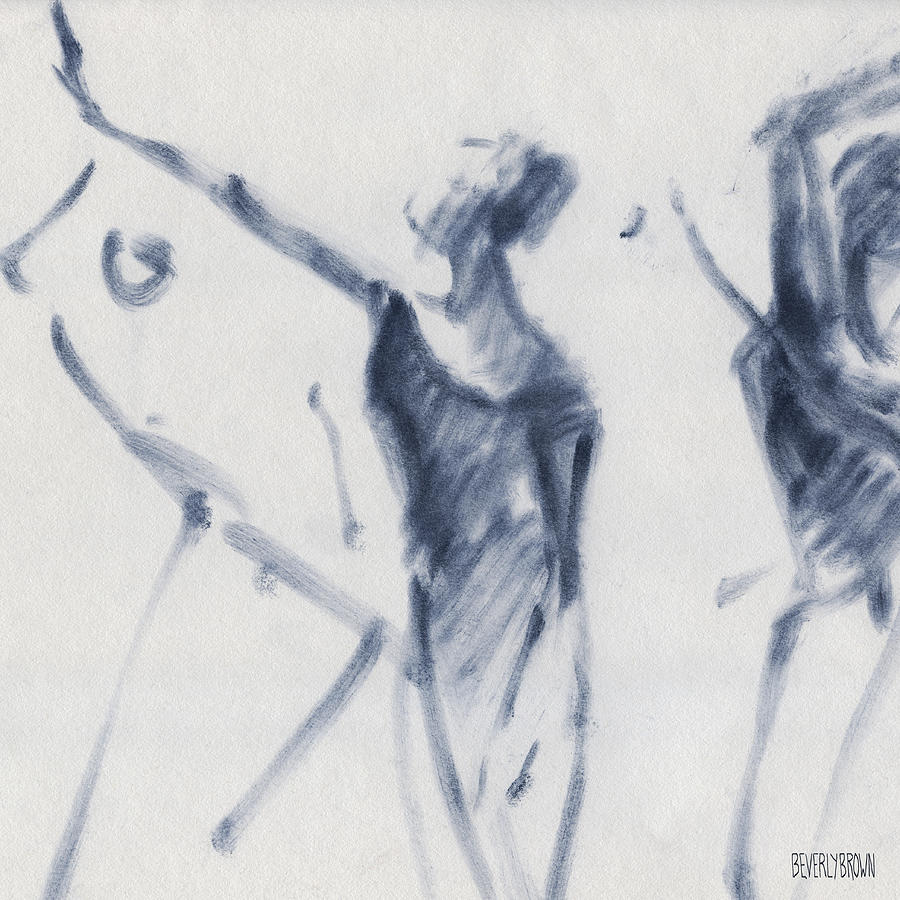 Ballet Drawing - Ballet Sketch Arm Reaching Out by Beverly Brown
