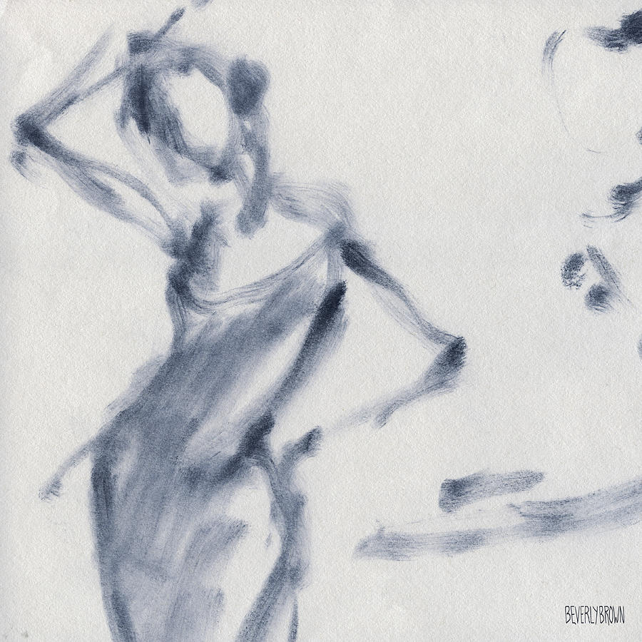 Ballet Painting - Ballet Sketch Hand on Head by Beverly Brown