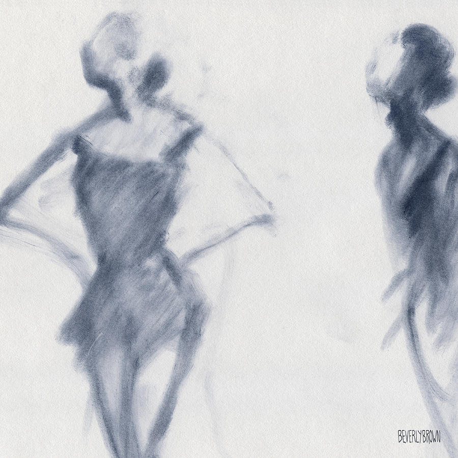 Ballet Drawing - Ballet Sketch Hands on Hips by Beverly Brown