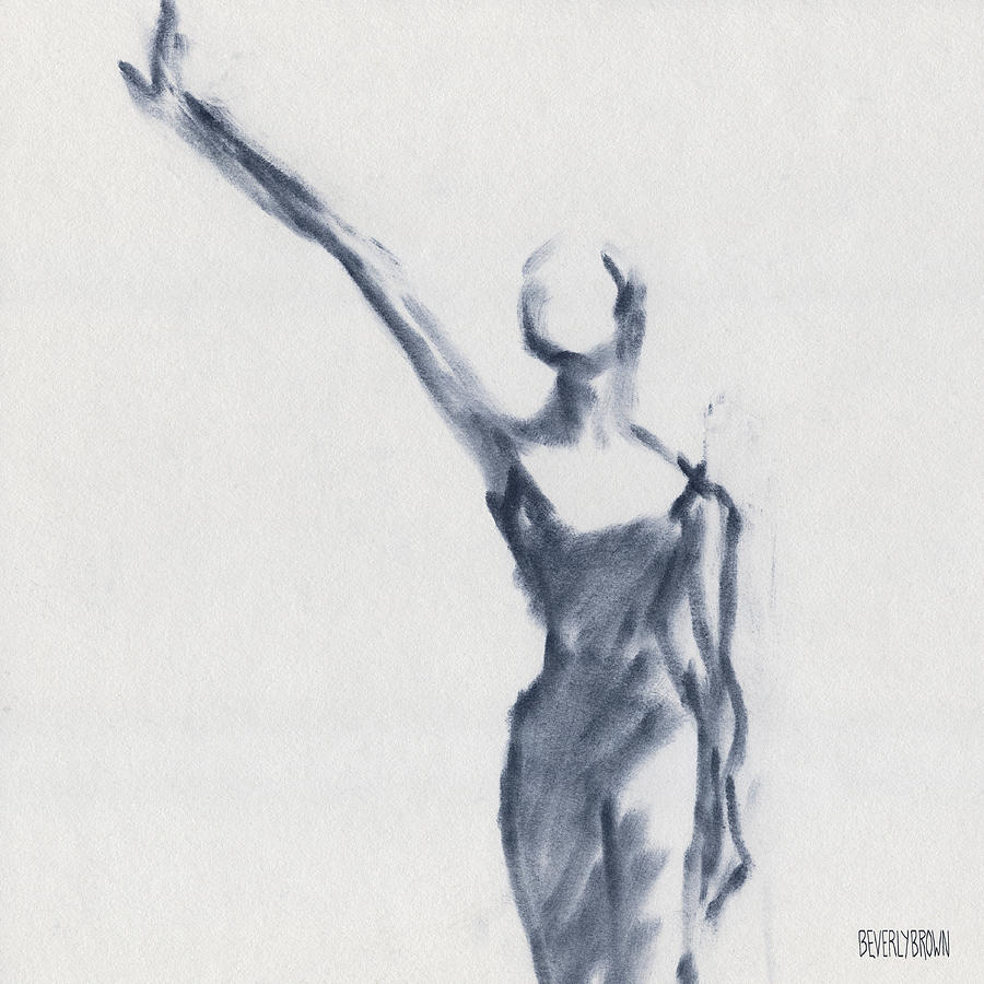Ballet Drawing - Ballet Sketch One Arm Extended by Beverly Brown