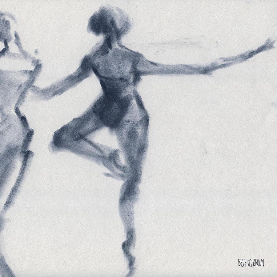 Ballet Drawing - Ballet Sketch Passe en Pointe by Beverly Brown