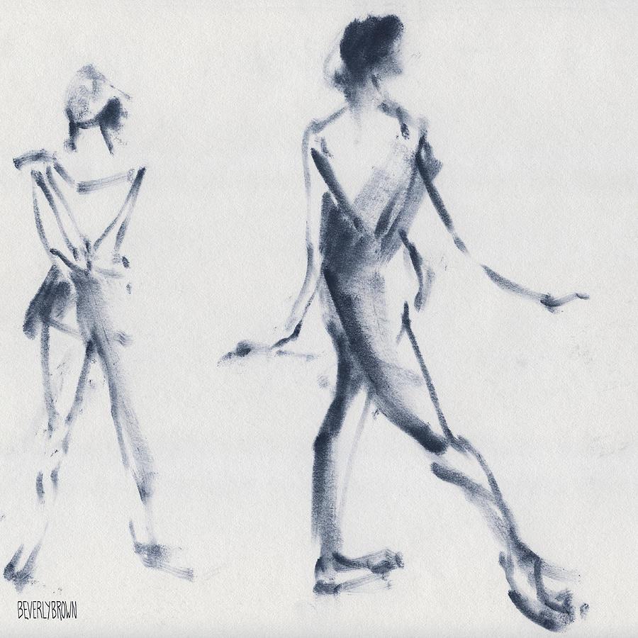 Ballet Drawing - Ballet Sketch Tendu Back by Beverly Brown