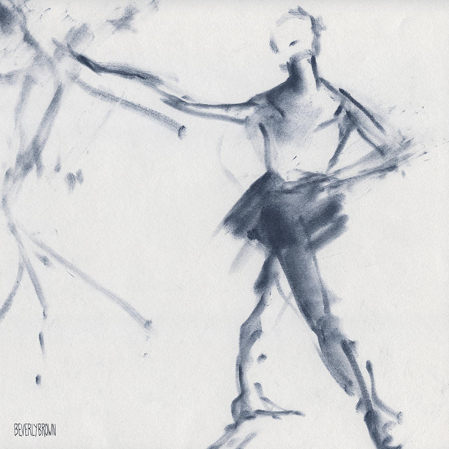 Ballet Drawing - Ballet Sketch Tendu Front by Beverly Brown