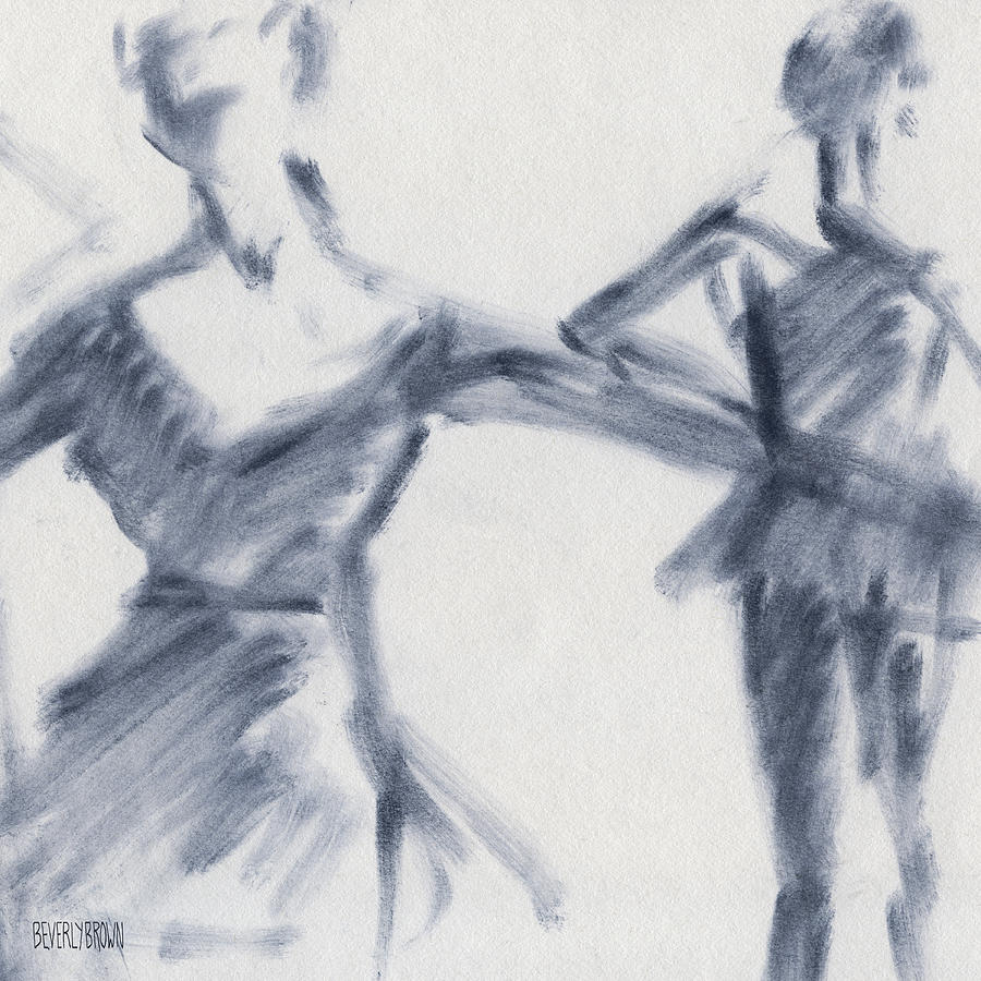 Ballet Drawing - Ballet Sketch Two Dancers Gaze by Beverly Brown