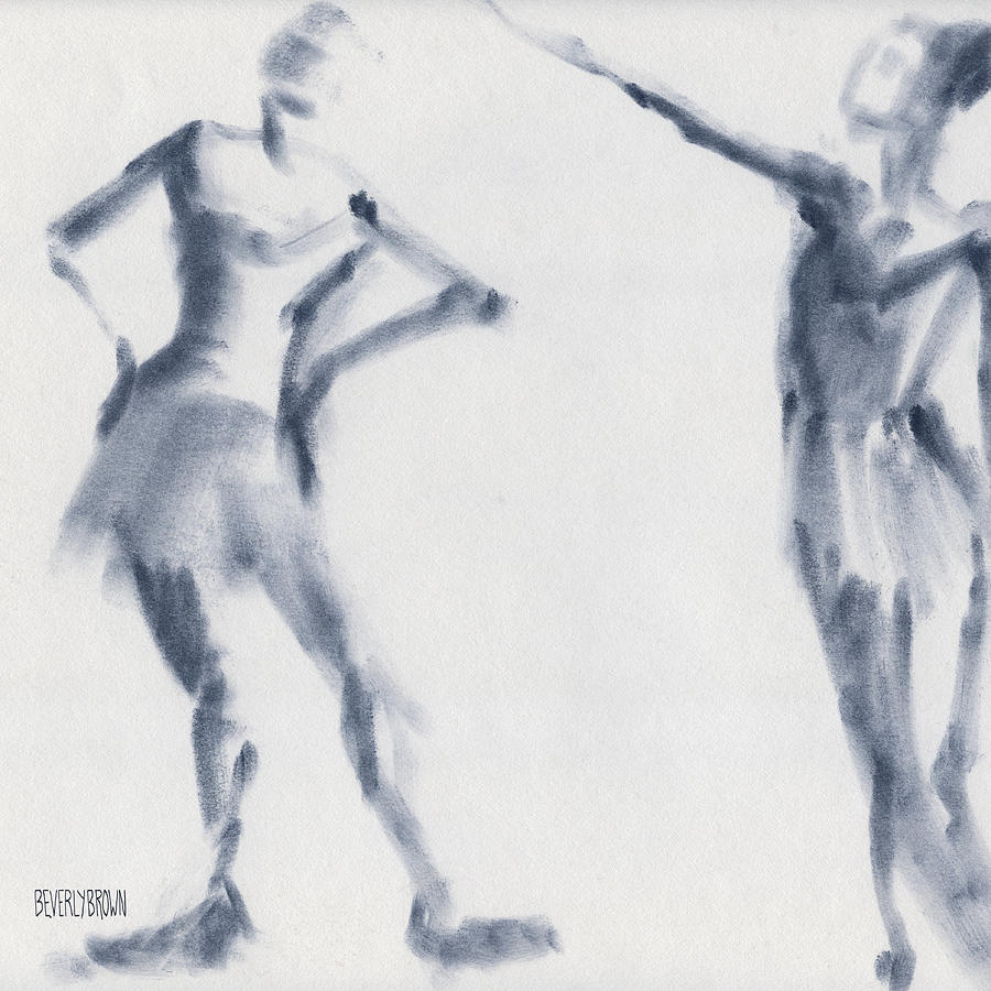 Ballet Drawing - Ballet Sketch Two Dancers Shift by Beverly Brown