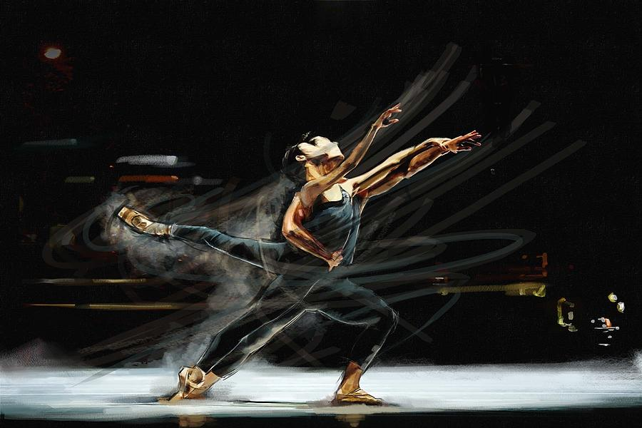 Movement Painting - Ballet Study 2 by James Robinson