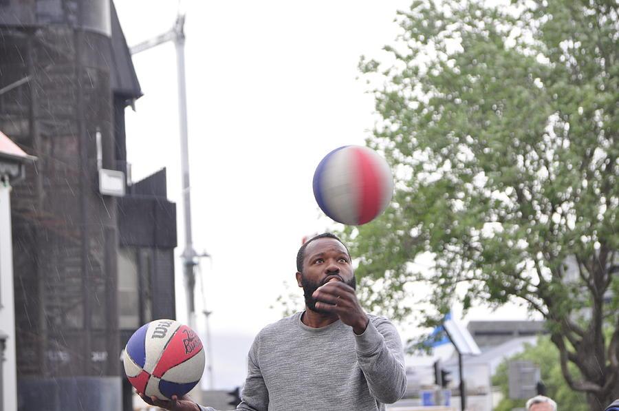 Basketball Photograph - Ballin In Reykjavik  by Adam Jones
