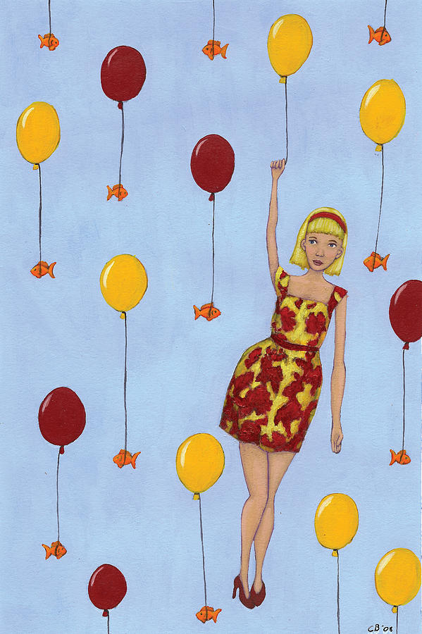 Woman Painting - Balloon Girl by Christy Beckwith