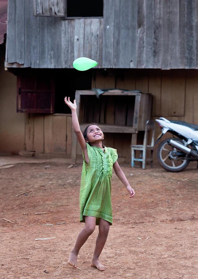 Girl Photograph - Balloon Girl by Matt Shiffler