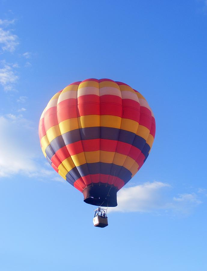 Flight Photograph - Balloon In Flight by Eddie Armstrong