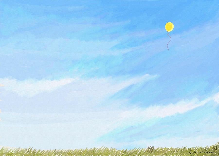 Sky Painting - Balloon in the Sky by Eliza Donovan