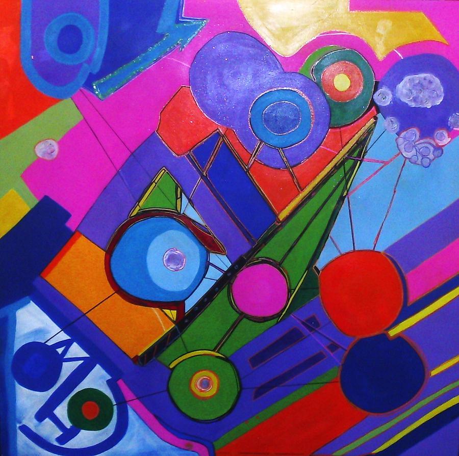 Tart  Painting - Balloon Party by HollyWood Creation By linda zanini
