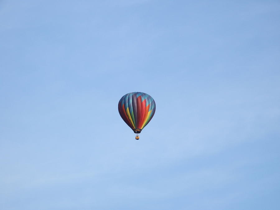 Sky Photograph - Ballooning by Karen Moulder