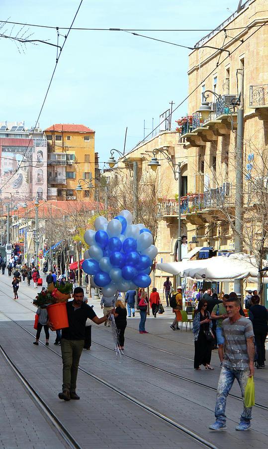 Balloons and Flowers on Jaffa Street - 2 by Alex Vishnevsky