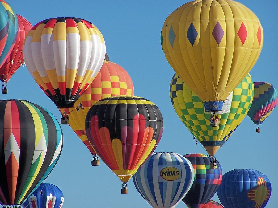 Hot Air Balloons Photograph - Balloons Balloons Balloons by Terry Jones