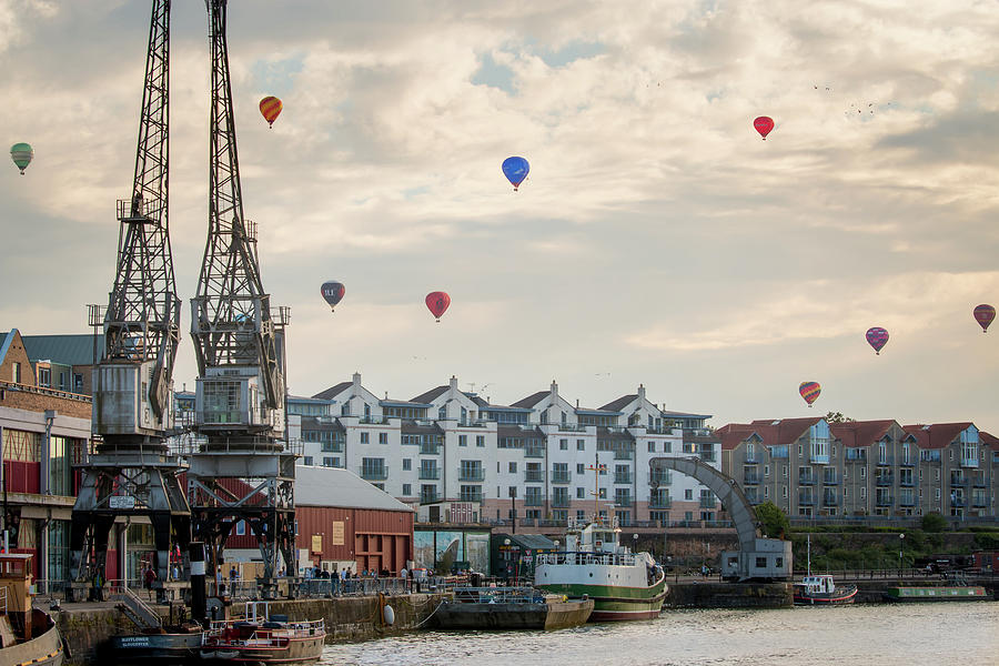 Balloons by Bristol Docks by Paul Hennell