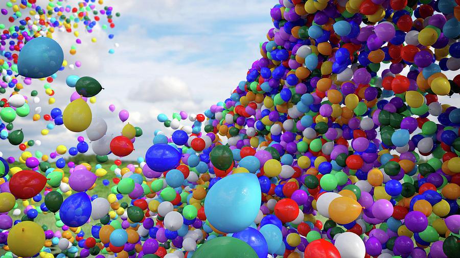 Balloons Digital Art